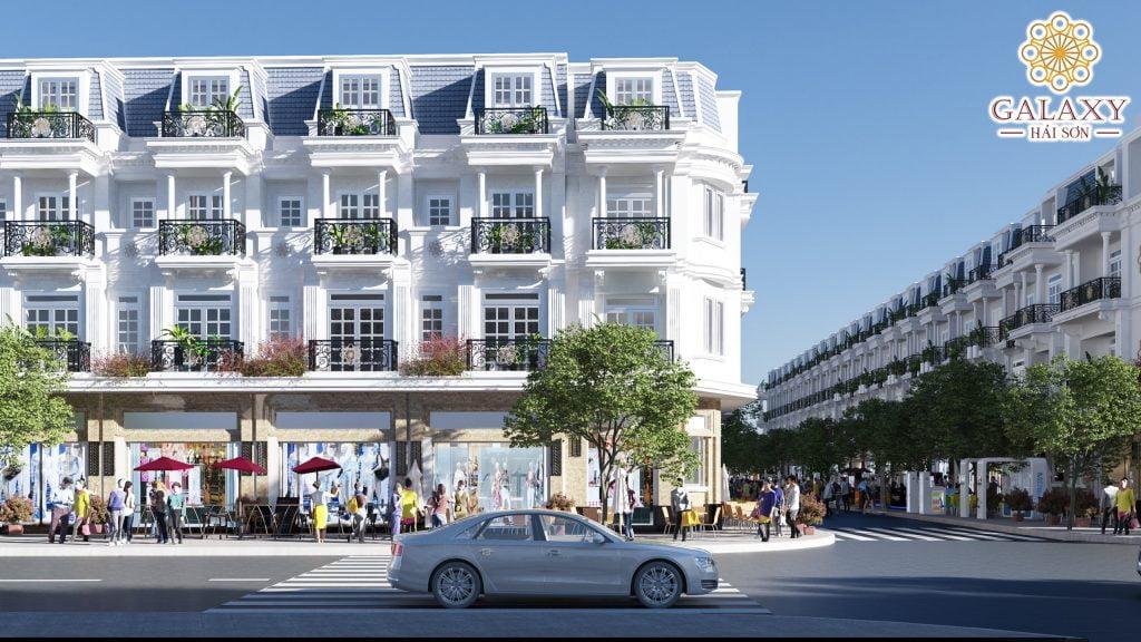 Phối cảnh Shophouse Dự án Galaxy Hải Sơn Đức Hòa Long An