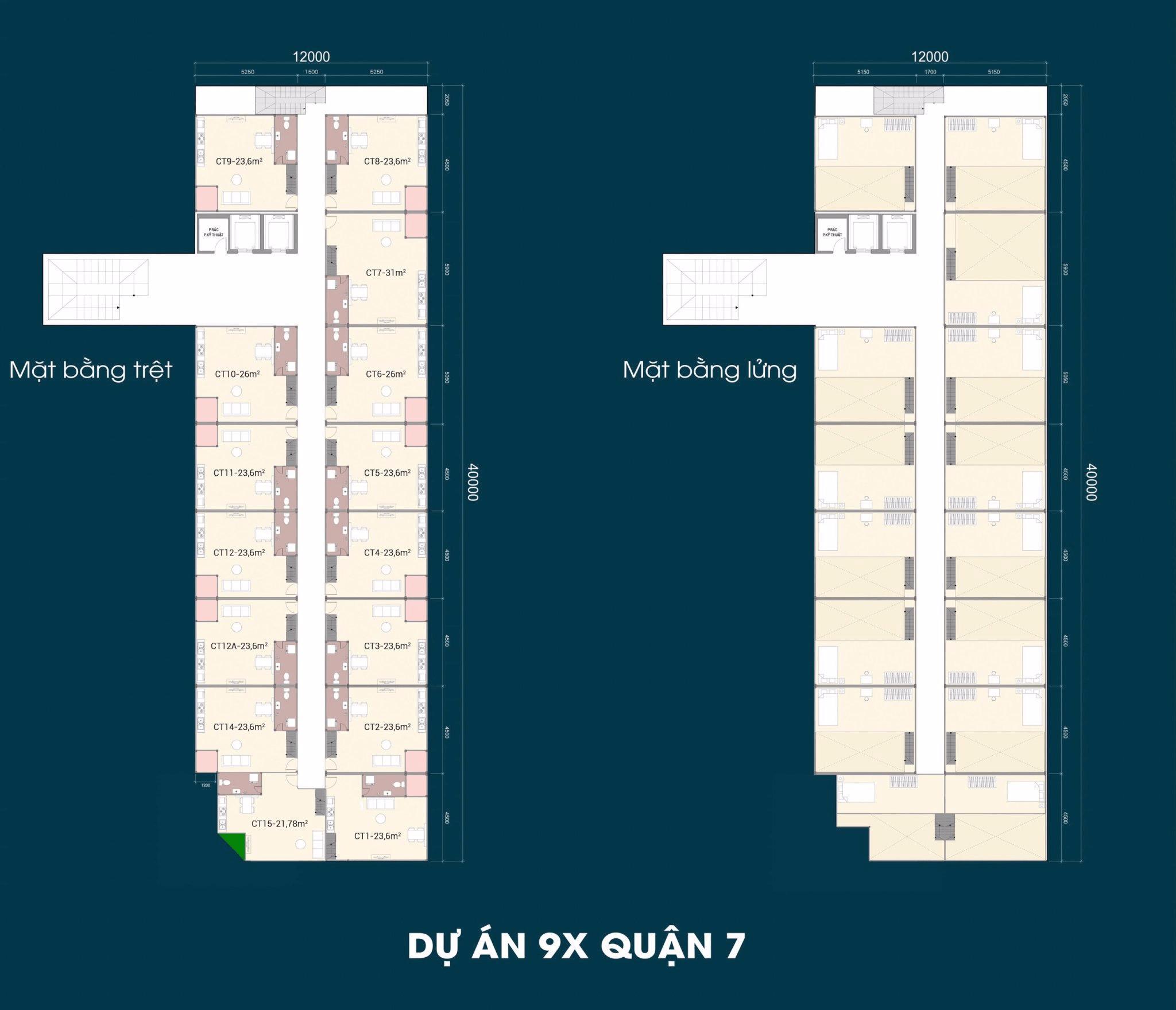 mặt bằng dự án căn hộ mini 9x quận 7