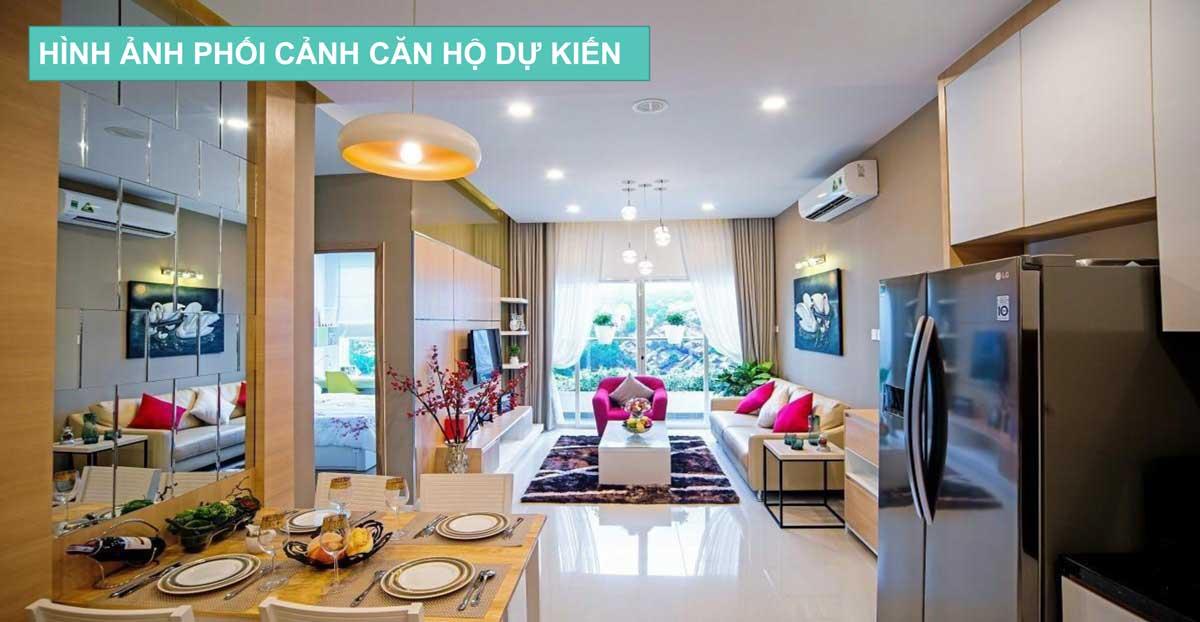 Bàn ăn Căn hộ Nhà ở xã hội Central Apartment Kinh Dương Vương