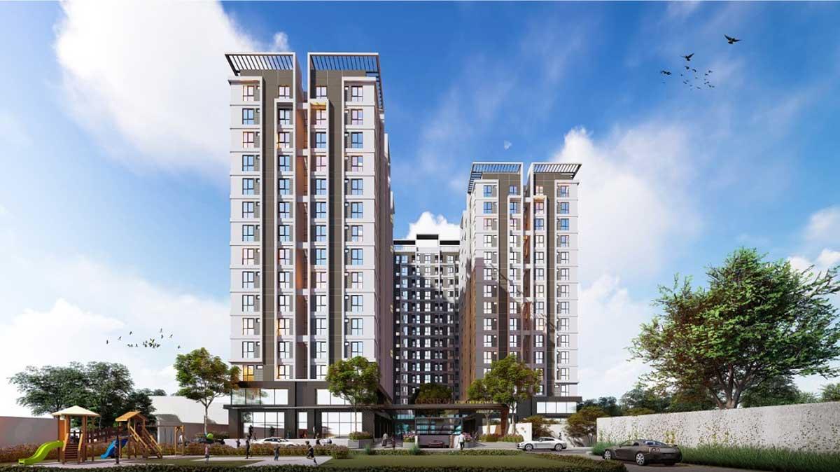 Phối cảnh Central Apartment Kinh Dương Vương