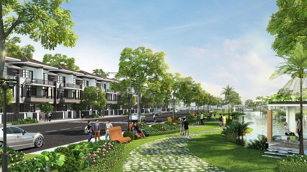 Khu công viên nội khu Dự án Khu đô thị Nhơn Hội
