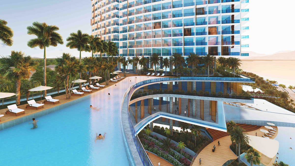 Hồ bơi Dự án Căn hộ Condotel SunBay Park Hotel & Resort