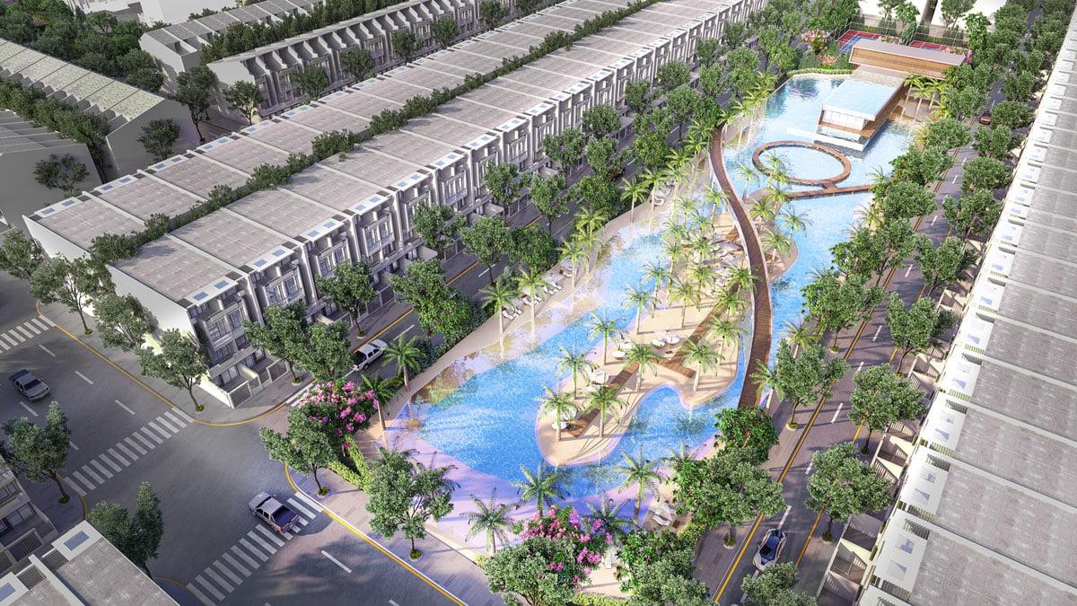 Hồ cảnh quan nội khu Dự án Khu dân cư Ngân Thuận