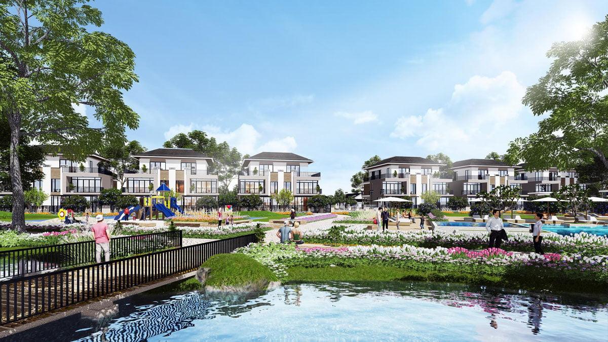 Hồ nước công viên nội khu Dự án Khu đô thị Nhơn Hội