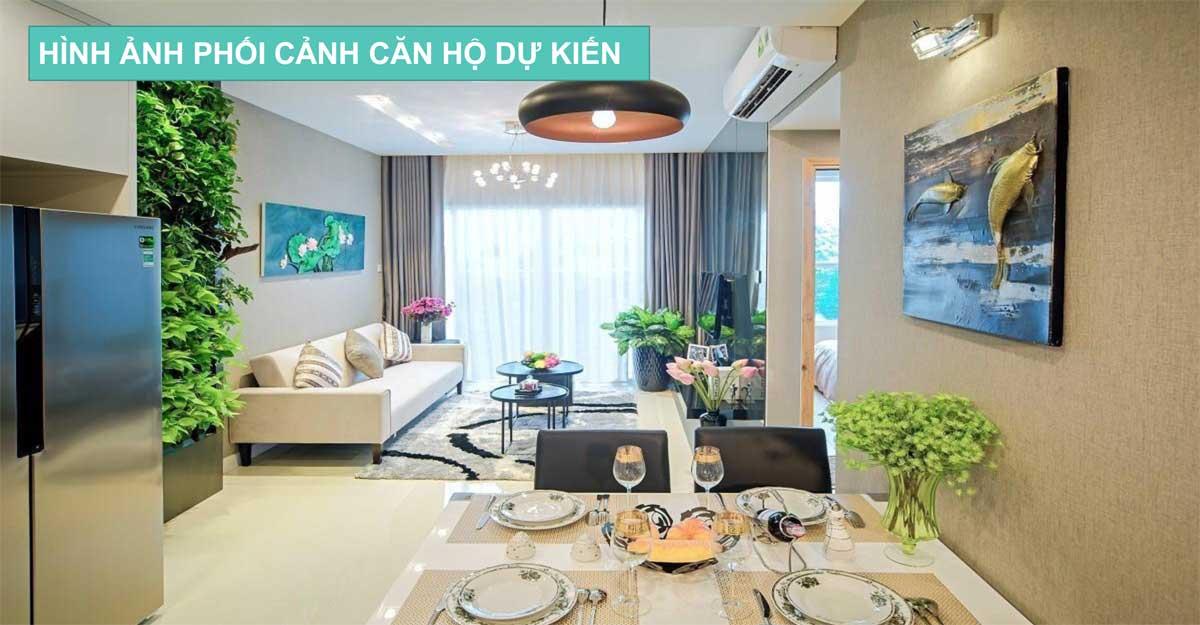 Phòng Khách Căn hộ Nhà ở xã hội Central Apartment Kinh Dương Vương