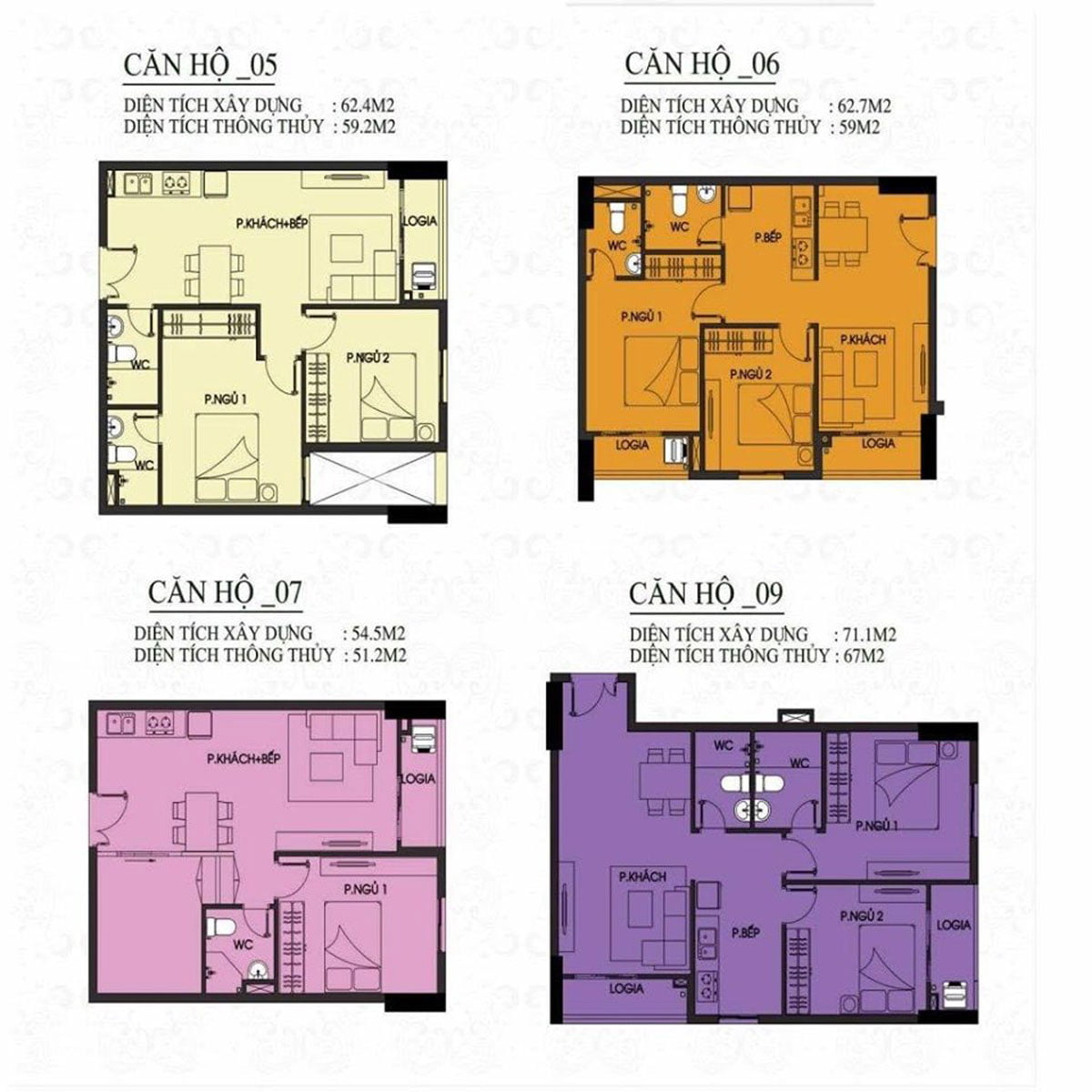 Thiết kế Căn hộ 9-6-7-9 Mường Thanh Gò Vấp