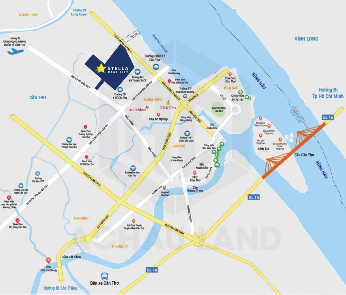 Vị trí Dự án Khu dân cư Ngân Thuận