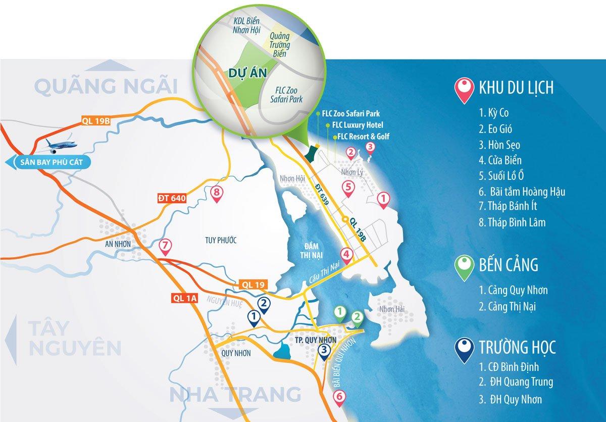 Sơ đồ Vị trí Dự án Khu đô thị Nhơn Hội New City