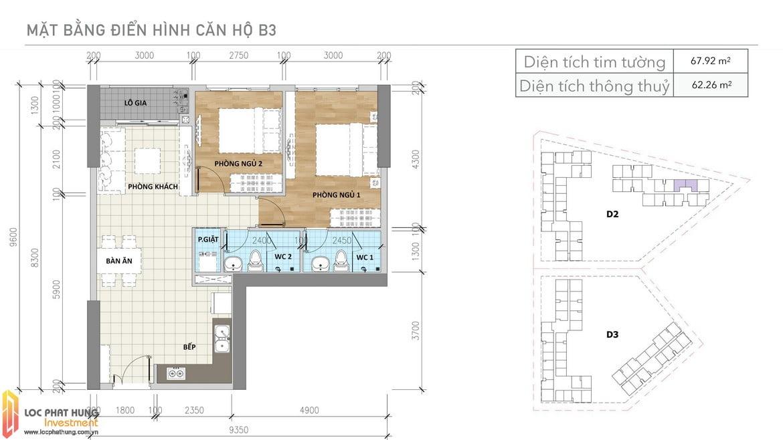 Thiết kế căn B3 Aio Bình Tân