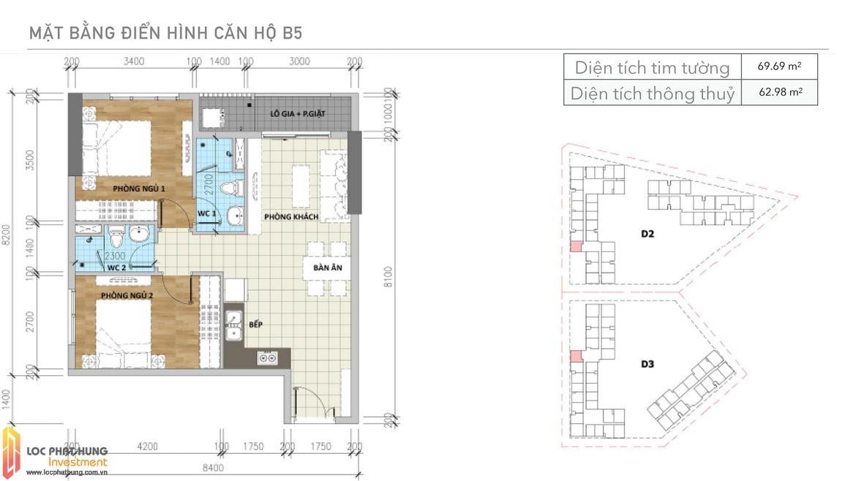 Thiết kế căn B5 Aio Bình Tân