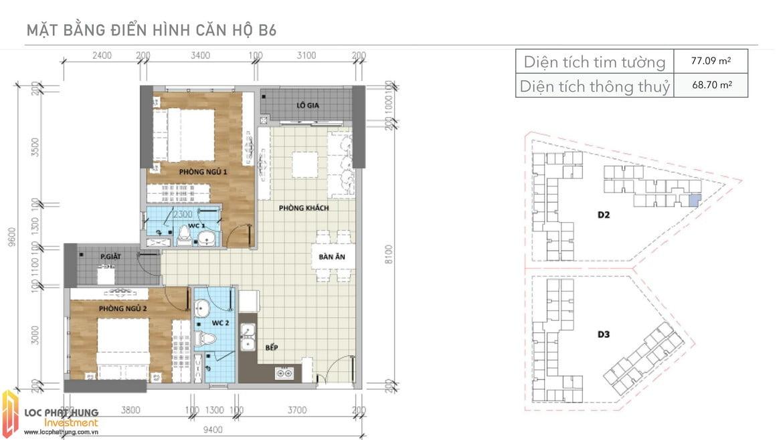 Thiết kế căn B6 Aio Bình Tân