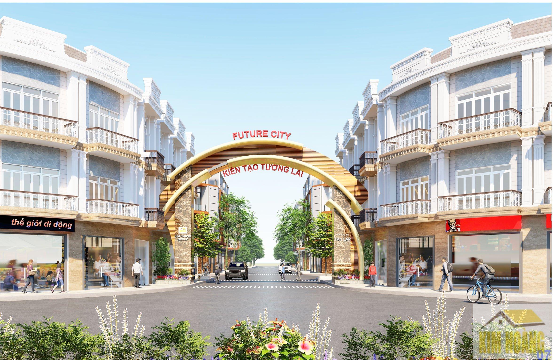 Cổng chào dự án Future city Bình dương ( Tân lập Garden )