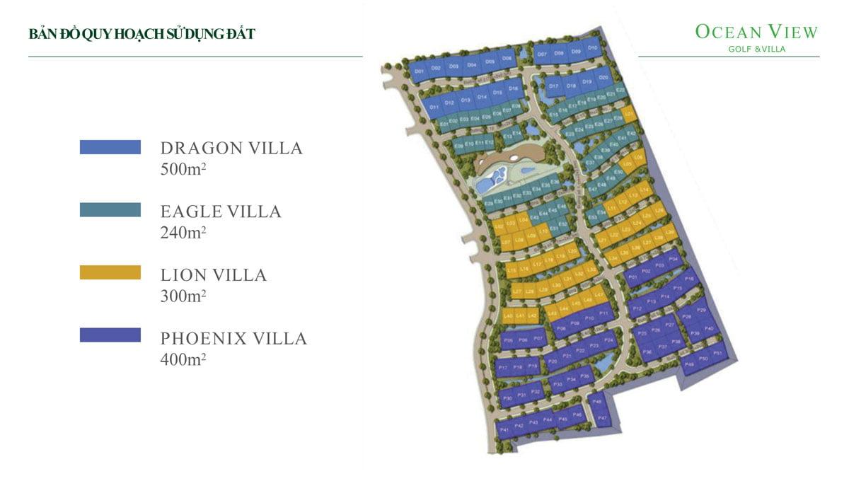 Bản đồ Quy hoạch Dự án Ocean View Golf & Villas