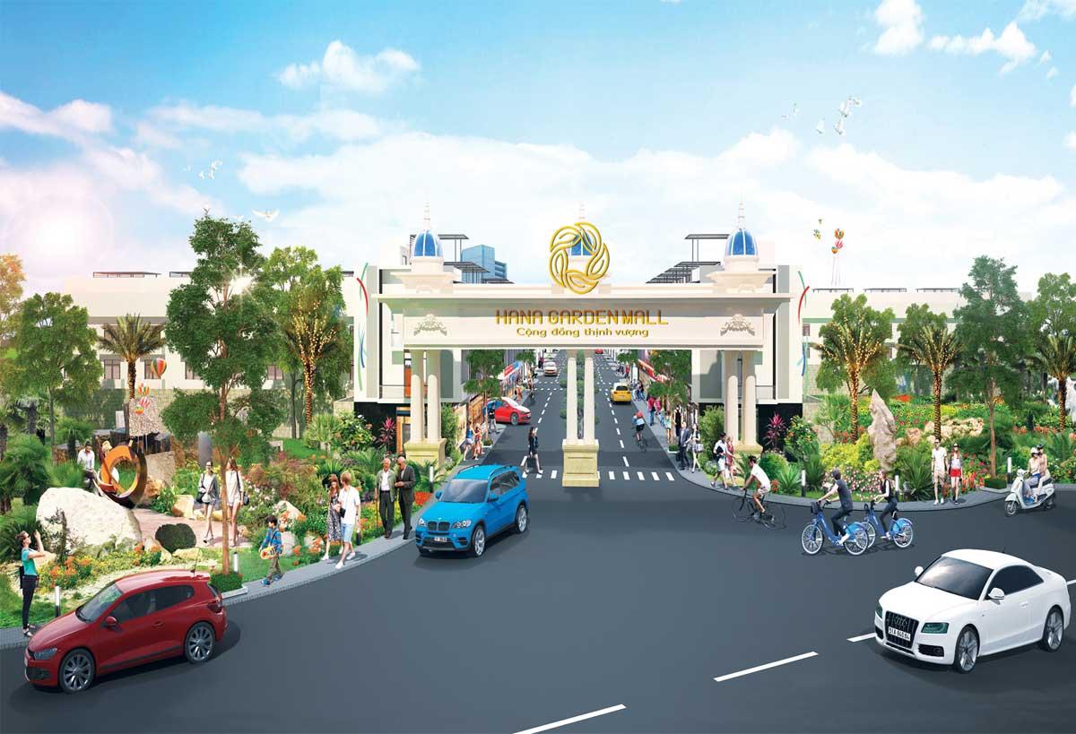 Cổng chào Dự án khu đô thị Hana Garden Mall Bình Dương