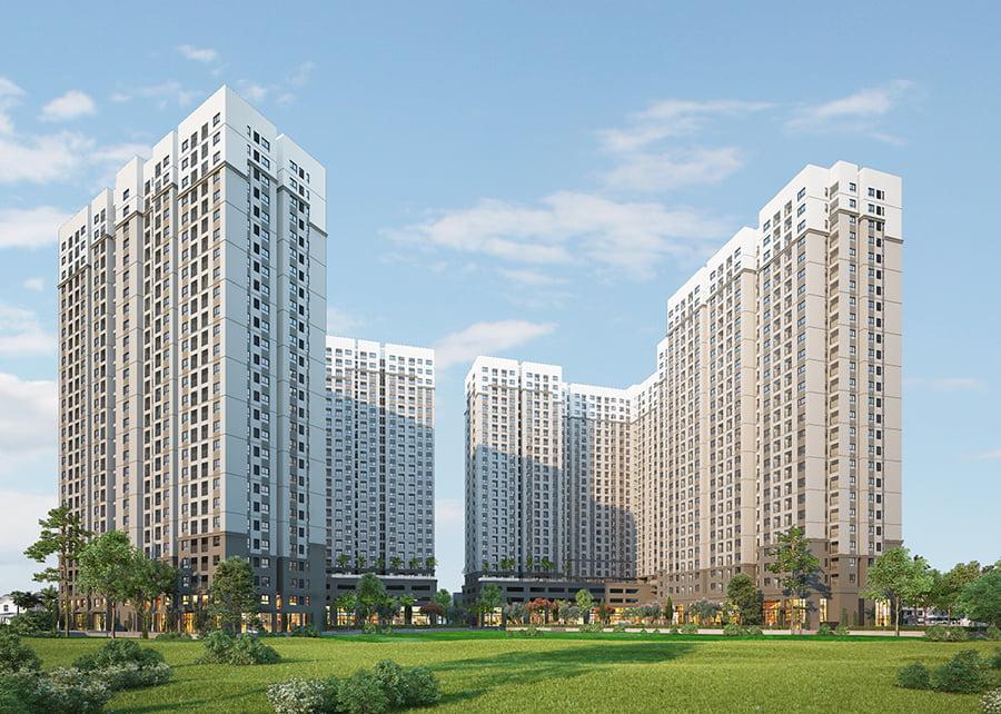 Phối cảnh Dự án căn hộ chung cư Aio City Bình Tân