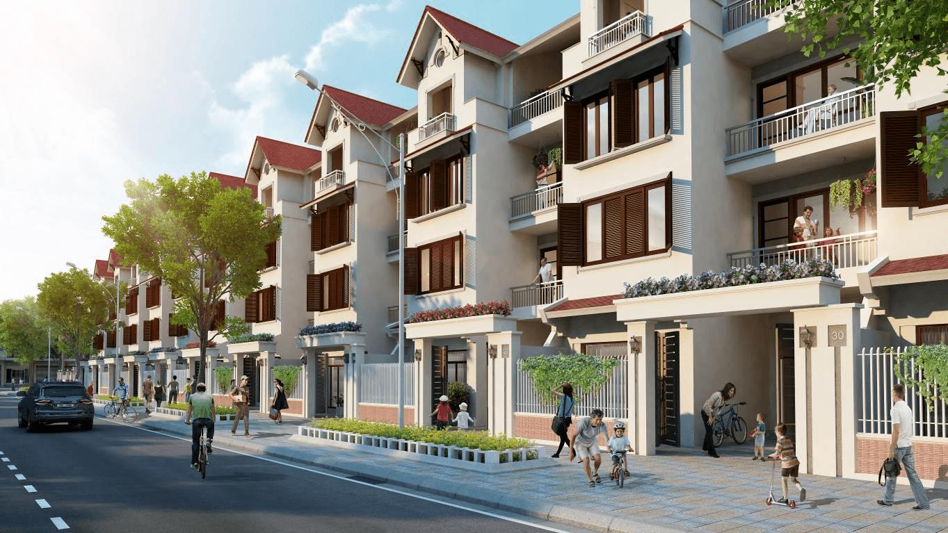 thiết kế nhà phố dự án Golden city Tân Quy