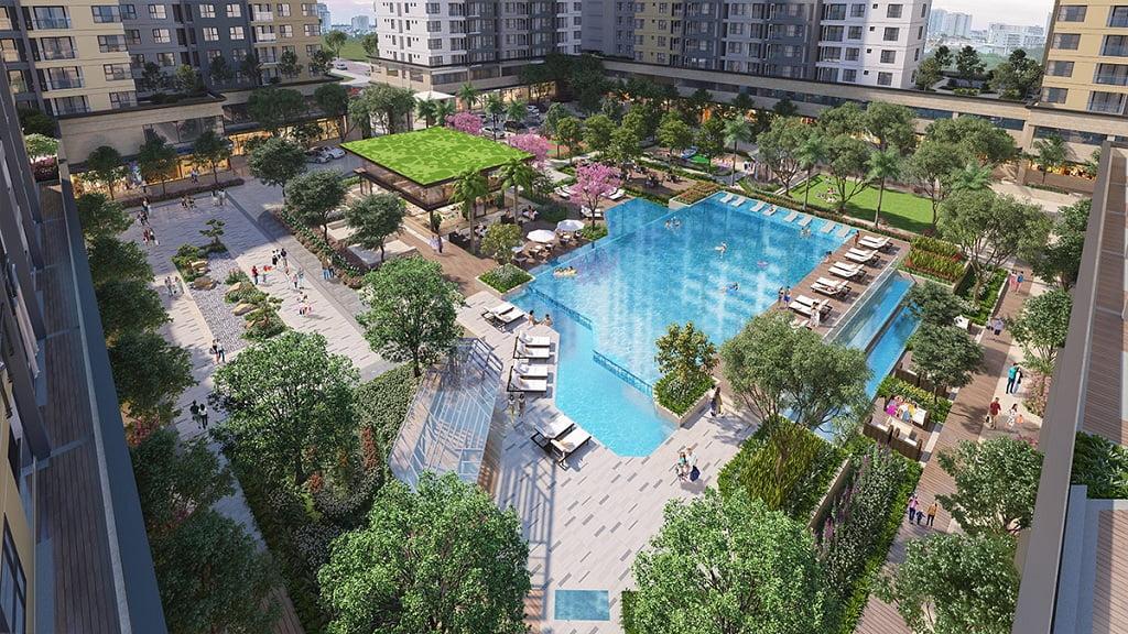 hồ bơi dự án akari city