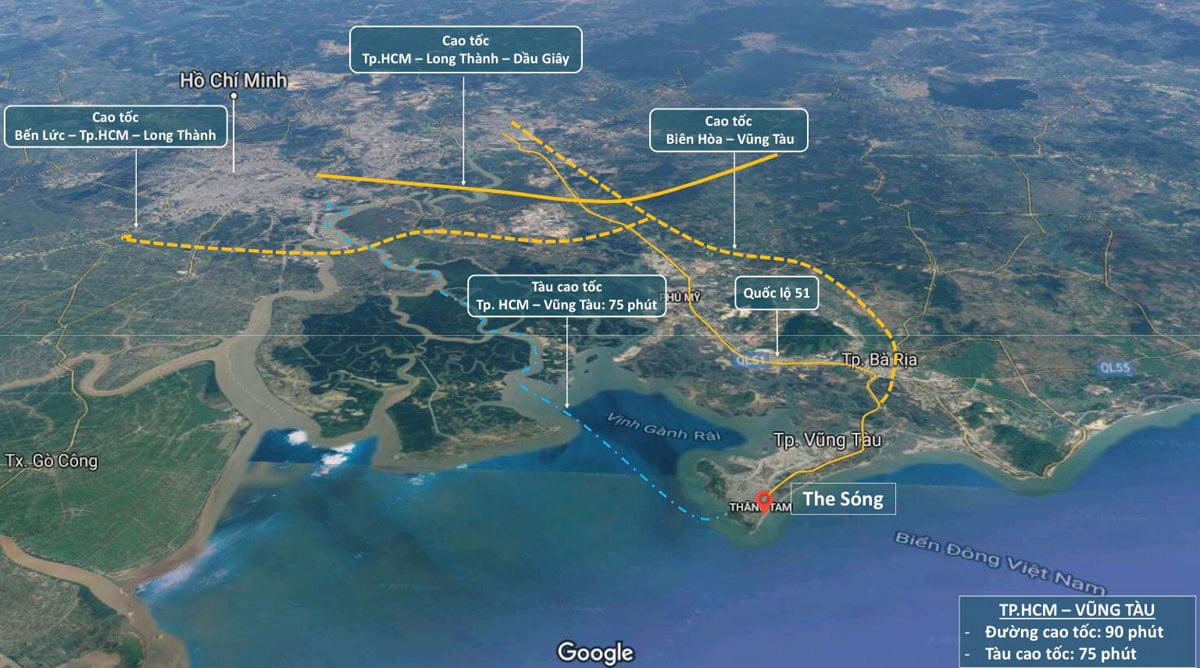 Tiện ích liên kết vùng của Dự án Căn hộ Condotel The Sóng Vũng Tàu