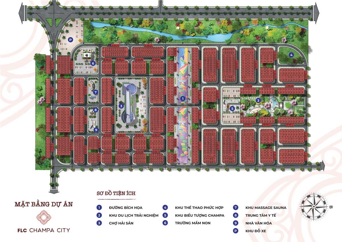 Mặt bằng FLC Champa City | FLC Quảng Ngãi Beach & Golf Resort