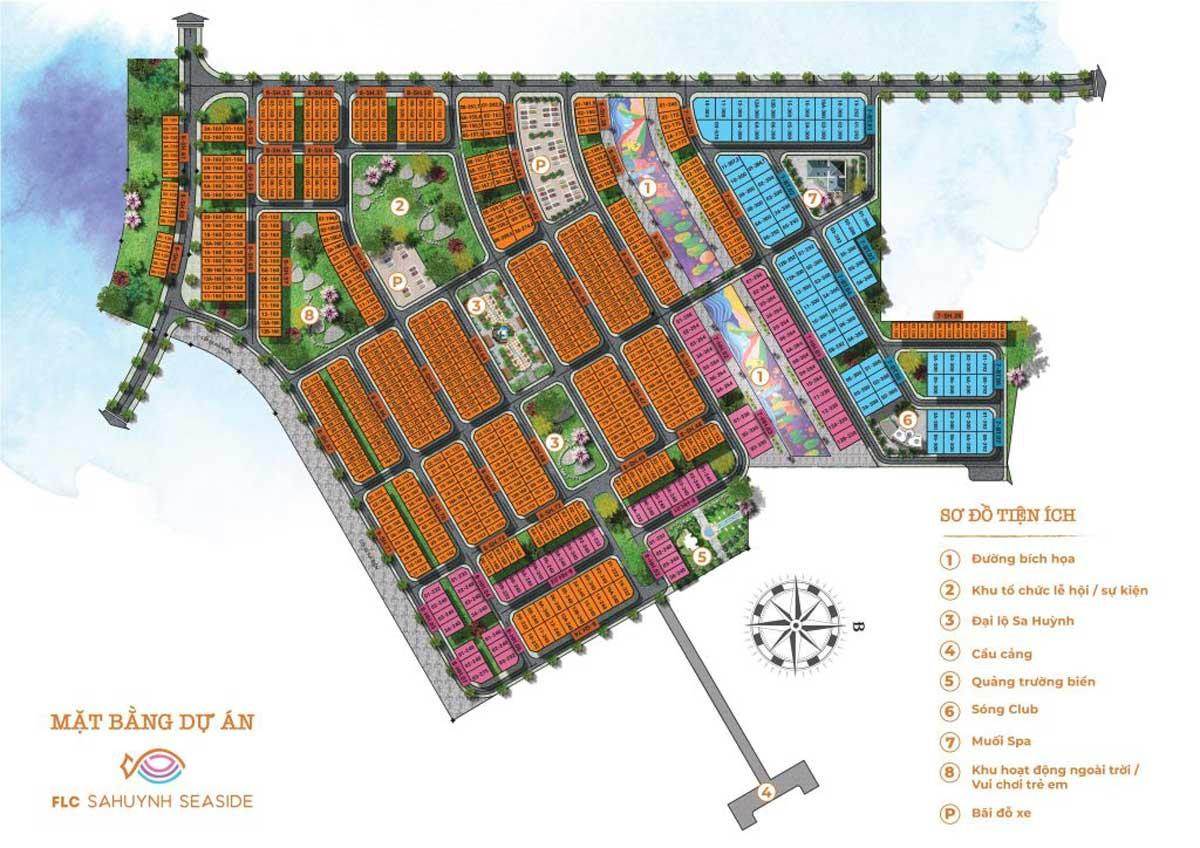 Mặt bằng FLC SaHuynh City | FLC Quảng Ngãi Beach & Golf Resort