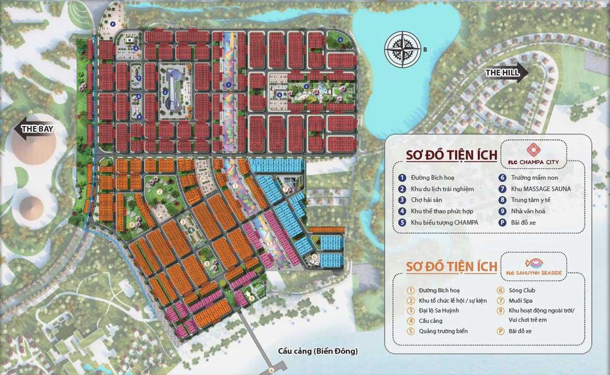 Mặt bằng phân khu The Bay Dự án FLC Quảng Ngãi Beach & Golf Resort