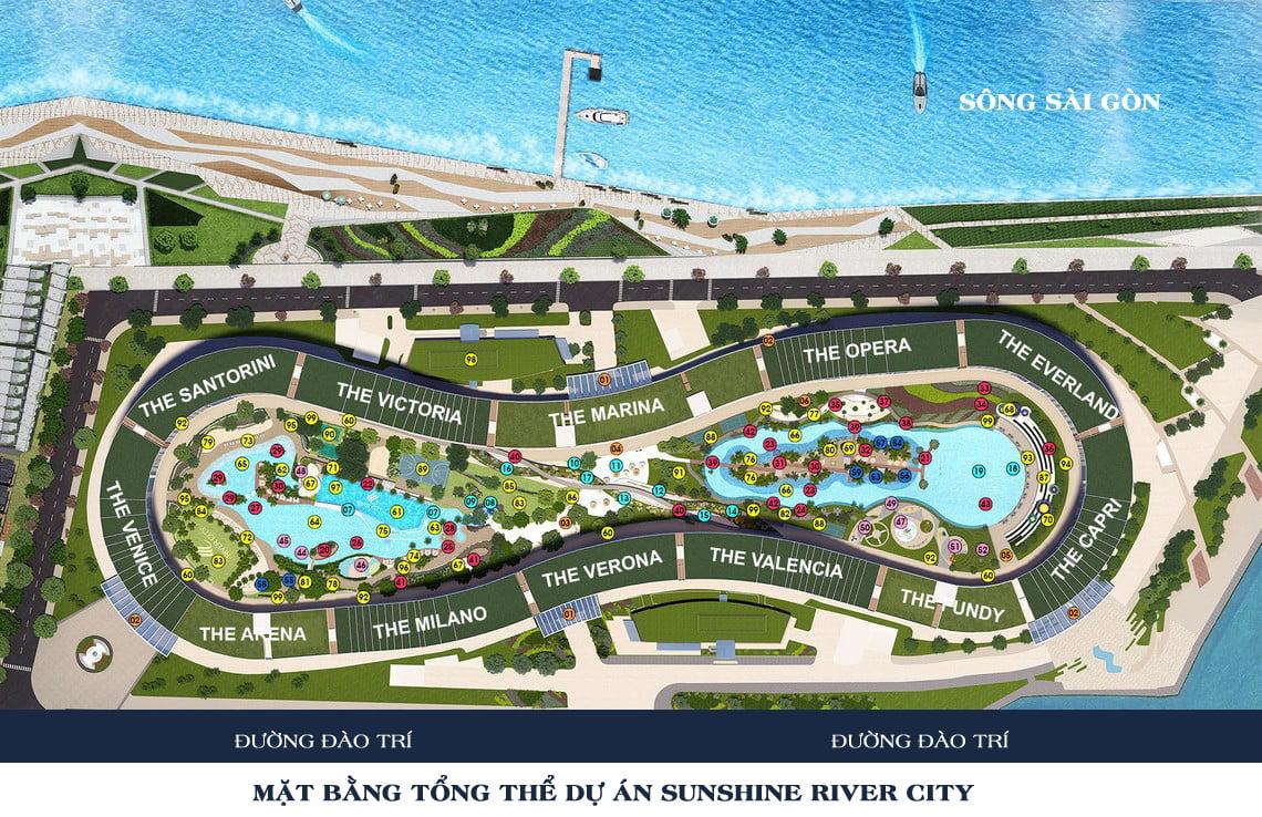 Mặt bằng tổng thể dự án sunshine river city quận 7