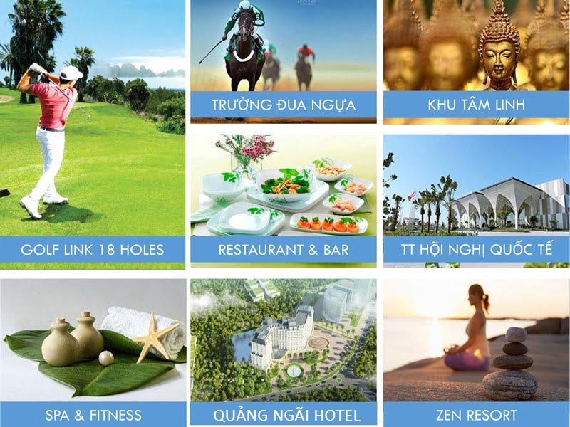 Tiện ích nội khu của Dự án FLC Quảng Ngãi Beach & Golf Resort