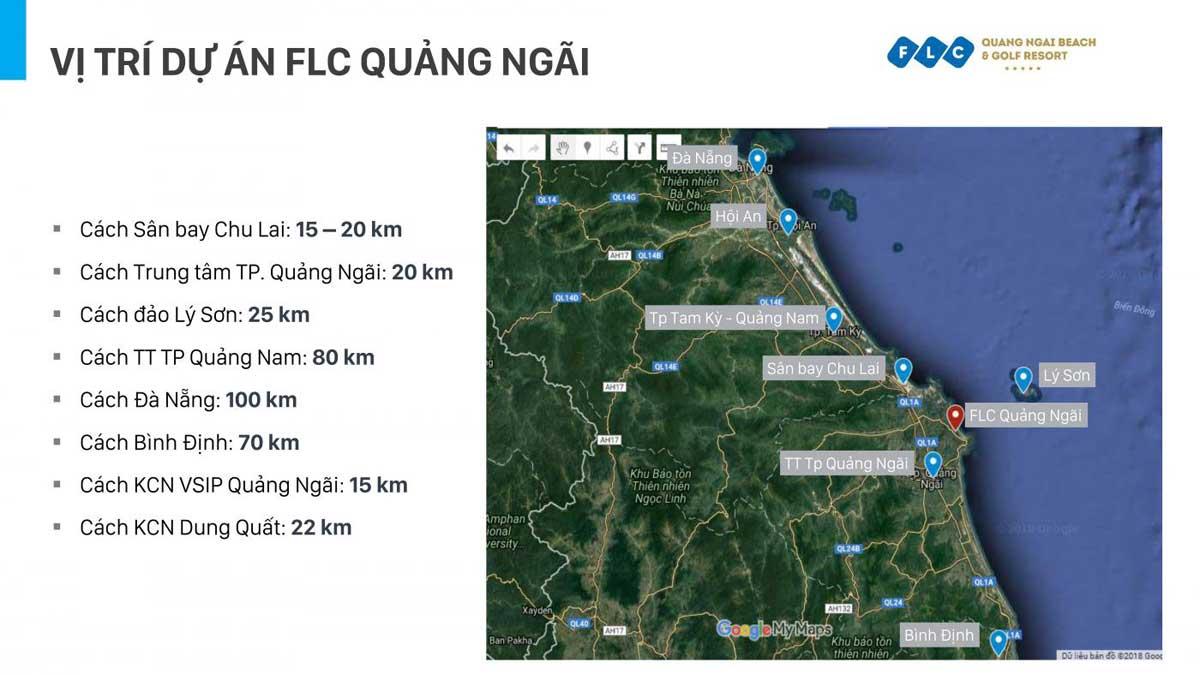 Vị trí kết nối vùng của Dự án Khu đô thị FLC Quảng Ngãi