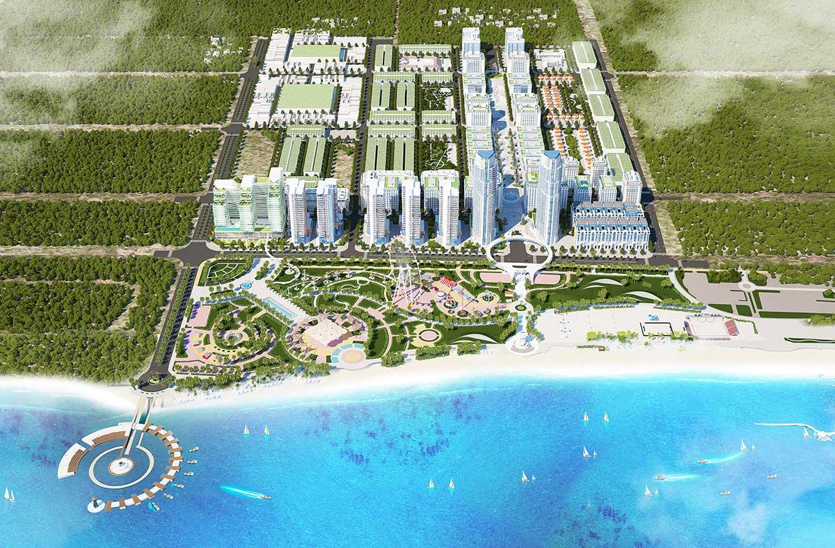 Tiện ích khu công viên & Bến du thuyền Dự án Khu đô thị biển Biển Bình Sơn Ocean Park Ninh Chữ