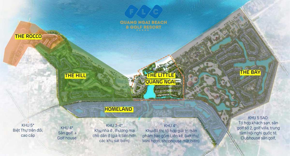 Tổng thể toàn khu Dự án Khu đô thị FLC Quảng Ngãi