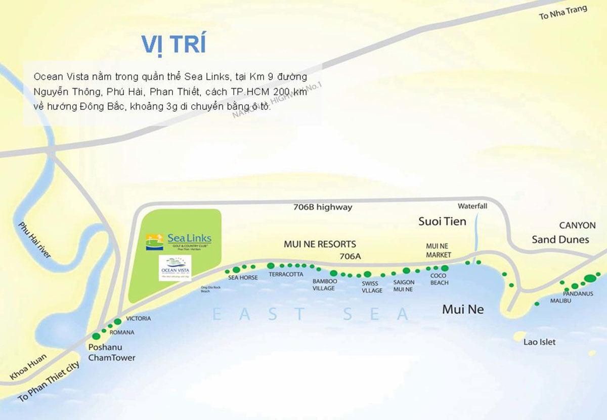 Vị trí Căn hộ Ocean Vista Phan Thiết
