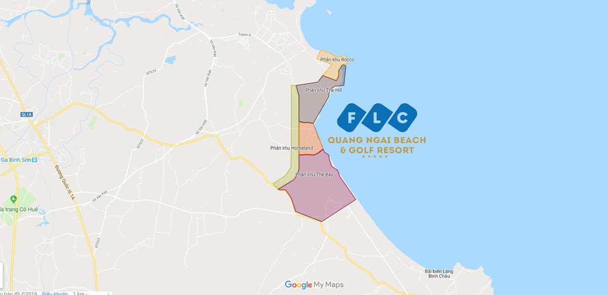 Vị trí Dự án Khu đô thị FLC Quảng Ngãi