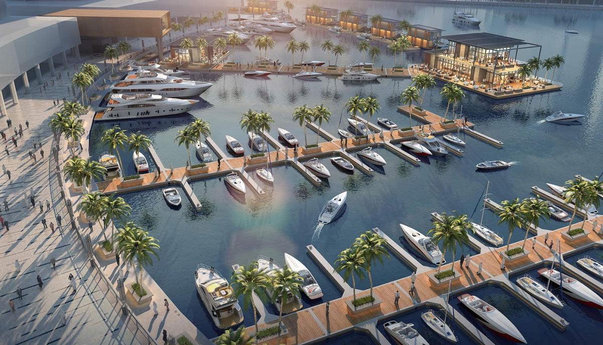 Bến du thuyền tại Dự án Khu đô thị biển Marine City Bà Rịa Vũng Tàu