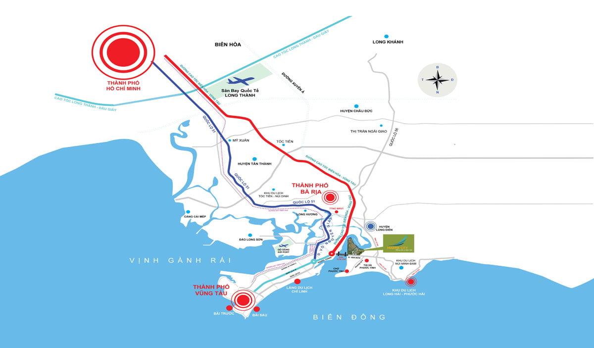 Vị trí Dự án Khu đô thị Phố biển Marine City