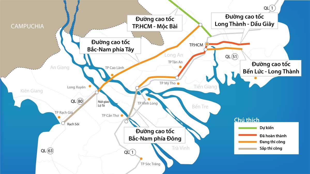 10.600 tỉ đồng xây Đường cao tốc TP.HCM – Mộc Bài Tây Ninh
