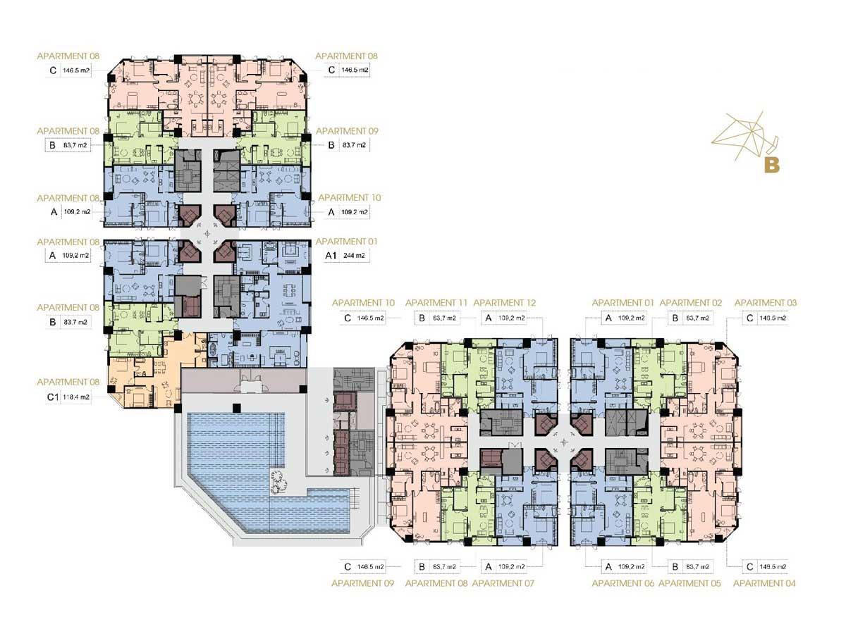 Mặt bằng Dự án Condotel Apec Mandala Wyndham Phan Rang – Tháp Chàm Ninh Thuận