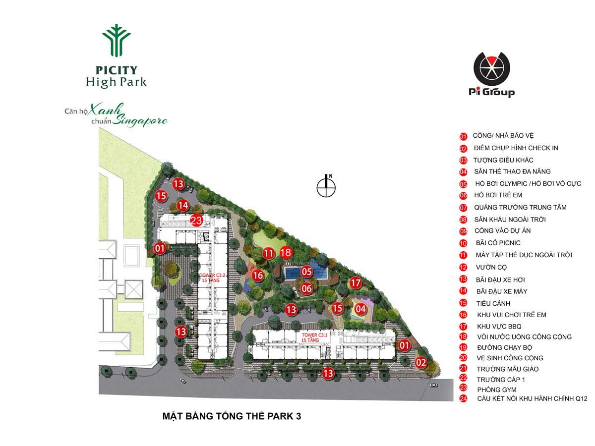 Tháp C3 – The Treasure Dự án Picity High Park Thạnh Xuân Quận 12