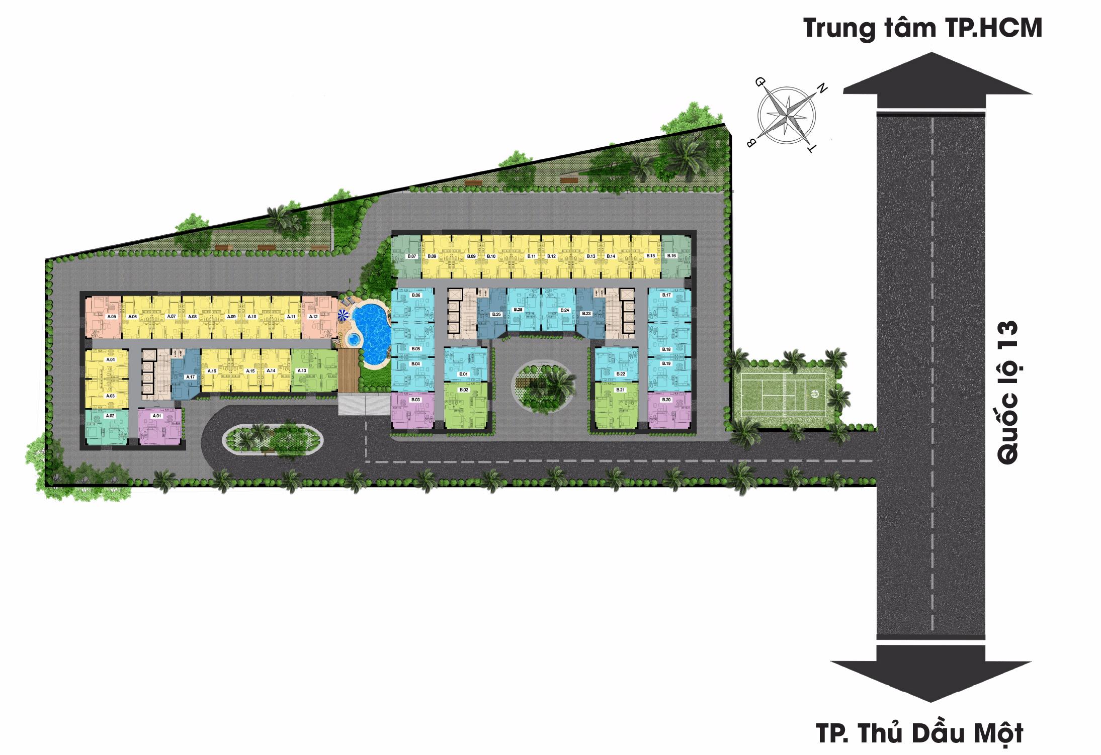 Mặt bằng Tổng thể Dự án Căn hộ Chung cư Stown GateWay