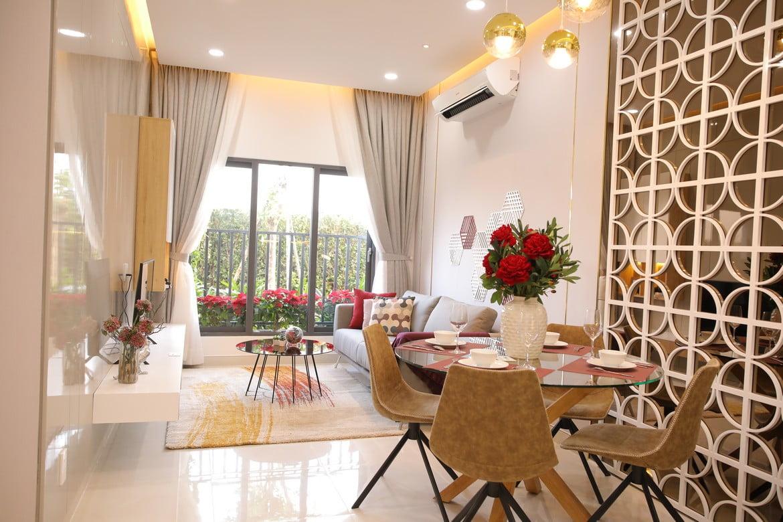 Khu vực Sofa Phòng khách Căn hộ Pi City Thạnh Xuân Quận 12