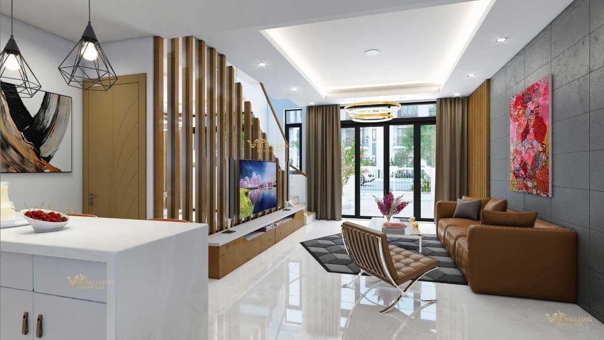 Phối cảnh nhà phố Hưng Long Residence