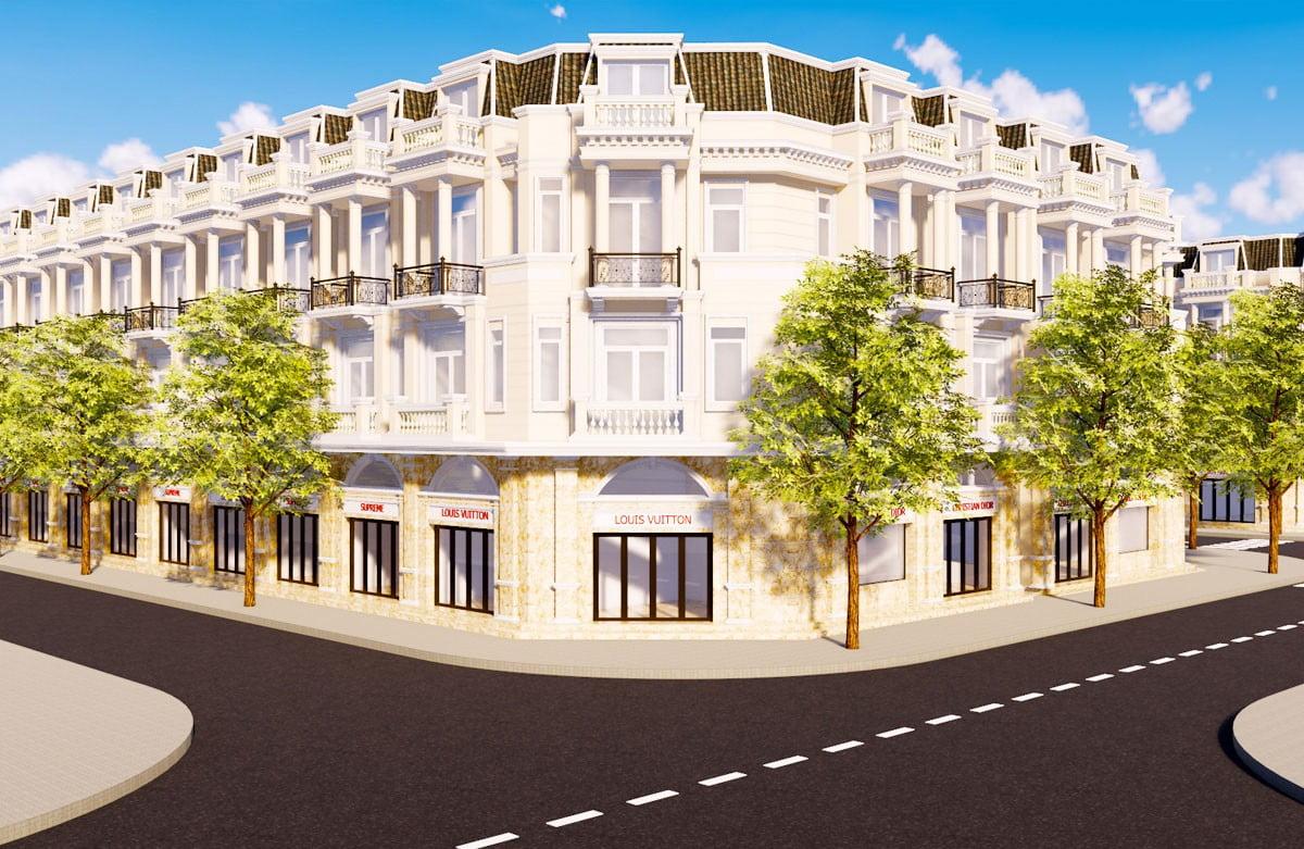 Phối cảnh khu nhà phố thương mại dự án lộc phát residence