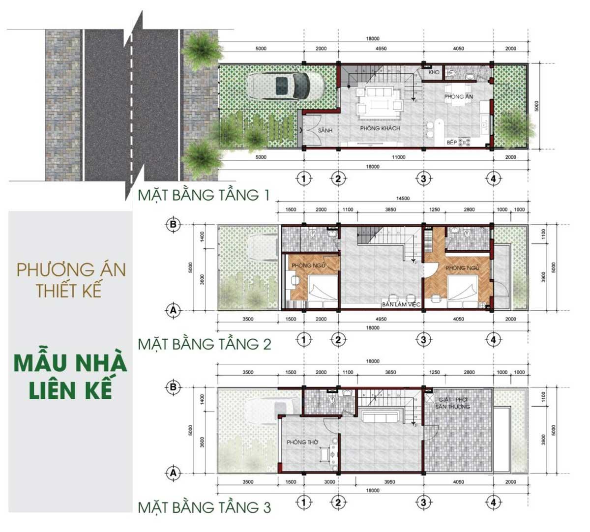 Thiết kế Nhà phố liên kế Khu dân cư TVC Trần Văn Chẩm Củ Chi
