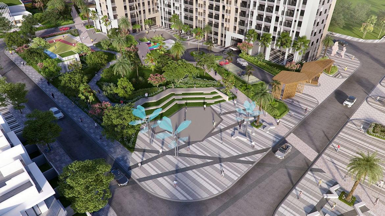 Khu công viên nội khu Dự án Căn hộ Pi City Thạnh Xuân