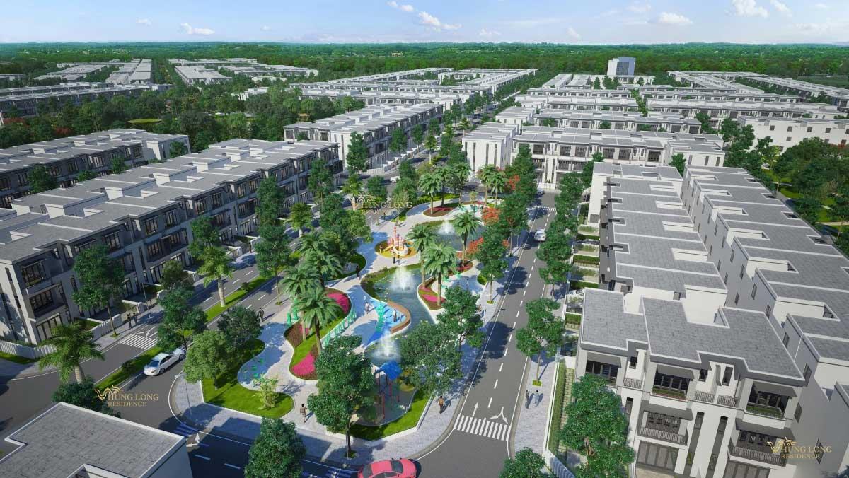 Khu công viên nội khu Dự án Hưng Long Residence Long An