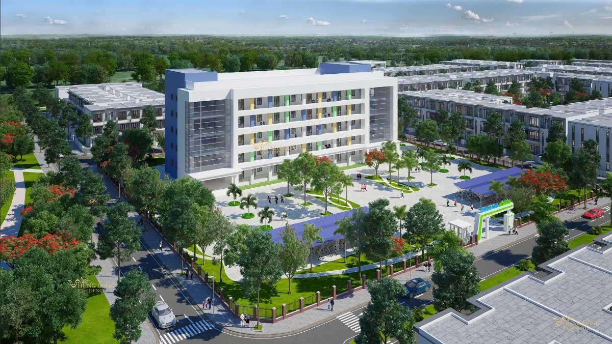 Trường học tại Dự án Hưng Long Residence Long An