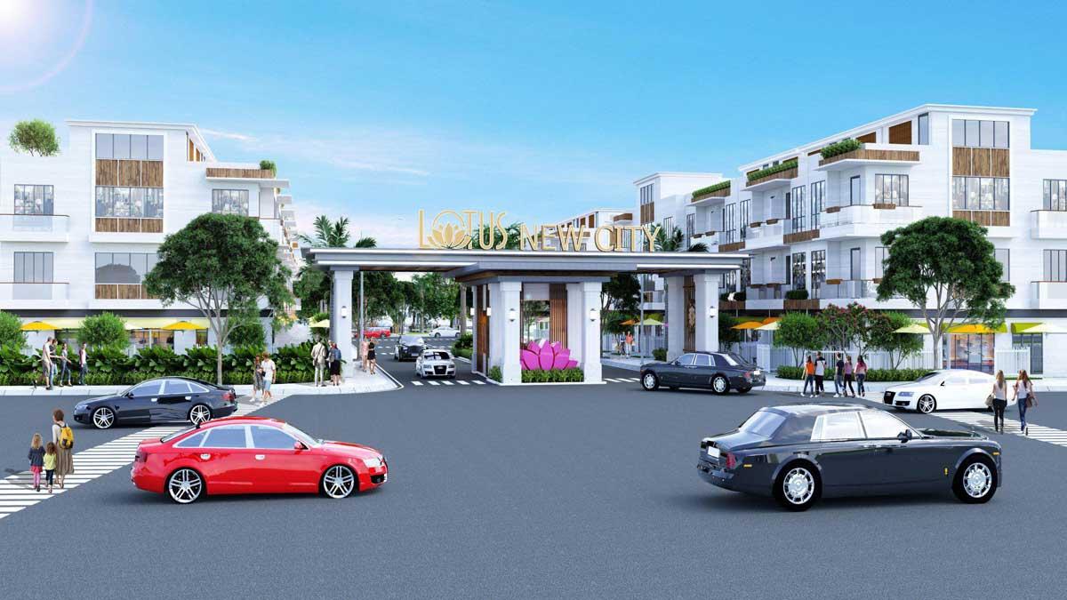 Phối cảnh Dự án Lotus New City Cần Đước Long An