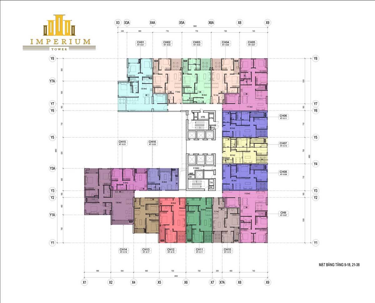 Mặt bằng chi tiết dự án căn hộ chung cư Imperium Town Nha Trang