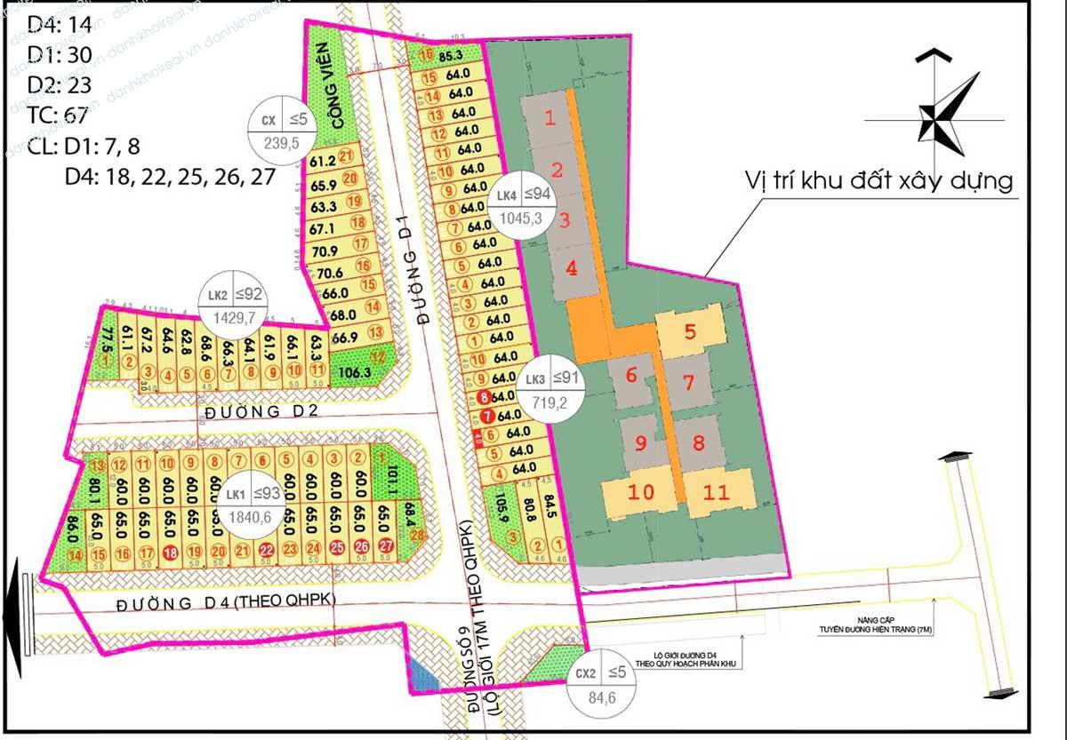 Mặt bằng tổng thể Dự án Alva Plaza Bình Dương