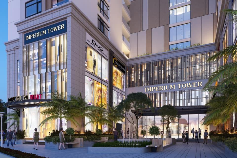 Mặt tiền sang trọng dự án căn hộ chung cư Imperium Town Nha Trang Đường Phước Long chủ đầu tư Indochine Nha Trang