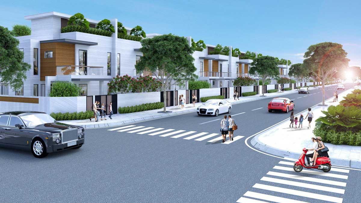 Phối cảnh Căn góc Nhà phố liên kế tại Dự án Lotus New City